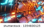 abstract technology background  ... | Shutterstock . vector #1354830125