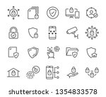 set of security icons  such as... | Shutterstock .eps vector #1354833578