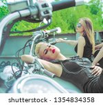 three young brutal cute girl...   Shutterstock . vector #1354834358