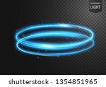 abstract blue line of light... | Shutterstock .eps vector #1354851965