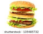 hamburger on white background | Shutterstock . vector #135485732