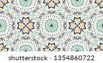 talavera pattern. azulejos...   Shutterstock .eps vector #1354860722