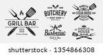 vector barbecue logo set. 5... | Shutterstock .eps vector #1354866308