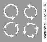 arrow  refresh  update icon set.... | Shutterstock .eps vector #1354868342