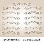 set ornamental scroll rule... | Shutterstock .eps vector #1354876535