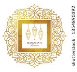 vector ramadan kareem card.... | Shutterstock .eps vector #1354890392