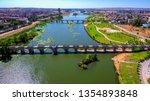 Badajoz. City of Extremadura. Spain. Drone Photo
