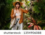 well dressed  woman  in ... | Shutterstock . vector #1354906088