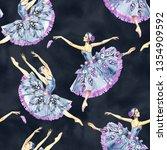 Seamless Pattern Of Ballet...