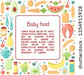 square frame concept with baby... | Shutterstock .eps vector #1354915928