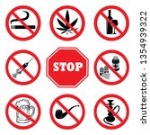 stop drugs.drugs prohibition... | Shutterstock .eps vector #1354939322