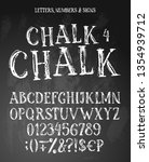 chalk english alphabet contains ... | Shutterstock .eps vector #1354939712