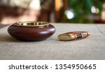 stylish exquisite ashtray and... | Shutterstock . vector #1354950665