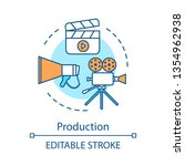 video production concept icon.... | Shutterstock .eps vector #1354962938