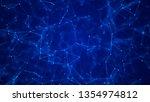 abstract digital blue... | Shutterstock . vector #1354974812