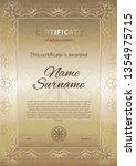 certificate template for... | Shutterstock .eps vector #1354975715