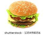 hamburger on white background | Shutterstock . vector #135498056