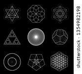 sacred geometry vector design...   Shutterstock .eps vector #1354982198