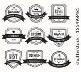 set of  retro vintage badges... | Shutterstock .eps vector #135498485