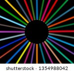 set of color pencils in circle...   Shutterstock . vector #1354988042