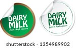 dairy milk stickers | Shutterstock .eps vector #1354989902
