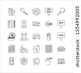 real estate market line icons... | Shutterstock .eps vector #1354992005