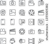 thin line icon set   camera... | Shutterstock .eps vector #1355005382