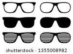 sunglasses vector icon cliparts ... | Shutterstock .eps vector #1355008982