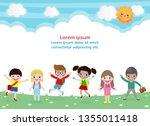 back to school education...   Shutterstock .eps vector #1355011418