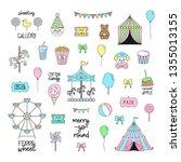 fair  carnival  circus vector... | Shutterstock .eps vector #1355013155