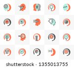 flat line icons set of human... | Shutterstock .eps vector #1355013755