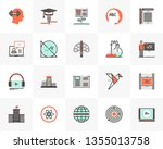 flat line icons set of online... | Shutterstock .eps vector #1355013758