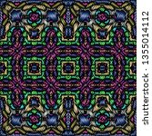 embroidery colorful pattern... | Shutterstock .eps vector #1355014112