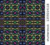 embroidery colorful pattern... | Shutterstock .eps vector #1355014118