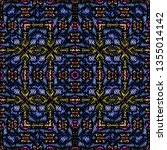 embroidery colorful pattern... | Shutterstock .eps vector #1355014142