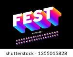 bright modern font  alphabet... | Shutterstock .eps vector #1355015828