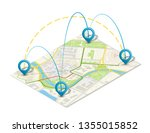 isometric city map business... | Shutterstock .eps vector #1355015852