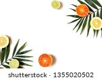 exotic composition of fresh... | Shutterstock . vector #1355020502