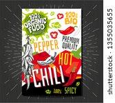 food labels stickers set... | Shutterstock .eps vector #1355035655