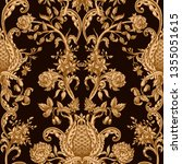 seamless pattern with vintage... | Shutterstock .eps vector #1355051615