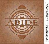 abide vintage wood emblem | Shutterstock .eps vector #1355062922