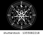 wiccan symbol of protection.... | Shutterstock .eps vector #1355082218