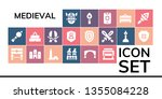 medieval icon set. 19 filled... | Shutterstock .eps vector #1355084228