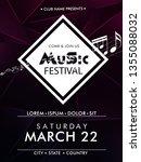 music fest  poster background... | Shutterstock .eps vector #1355088032