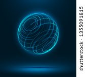 abstract 3d sphere consist of... | Shutterstock .eps vector #1355091815
