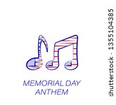 memorial day anthem colored...
