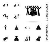 people love superhero icon.... | Shutterstock . vector #1355110235