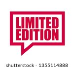 red vector banner limited... | Shutterstock .eps vector #1355114888