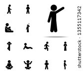 child  pointing icon. child... | Shutterstock . vector #1355117342