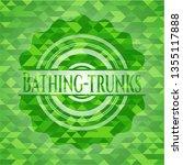 bathing trunks realistic green... | Shutterstock .eps vector #1355117888